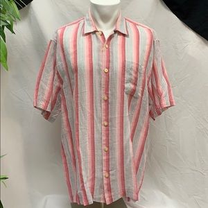 NWT Tommy Bahama Rose Stripped Button Down